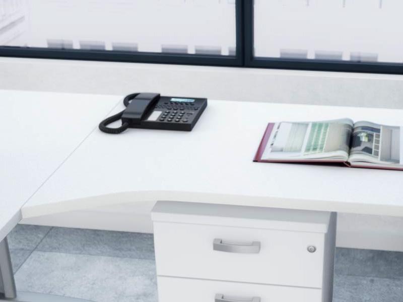 Retour secr taire avec forme pour bureau corporate for Bureau 80x60