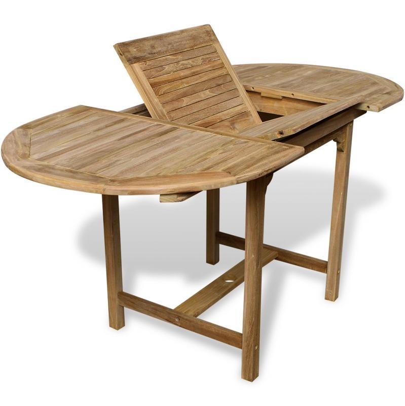 table en teck exterieur affordable teak complete outdoor set elano with table en teck exterieur. Black Bedroom Furniture Sets. Home Design Ideas
