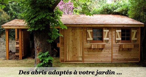 Abris de jardin monopente en en bois sur ossature for Idee plan abri de jardin