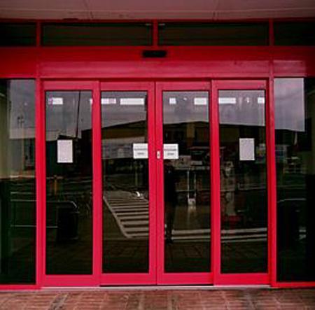 Porte pietonne coulissante telescopique 4 vantaux - Porte coulissante telescopique ...