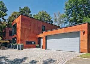 Portes de garage sectionnelles lpu40 a rainures m 2250 de large - Porte garage sectionnelle 3m large ...