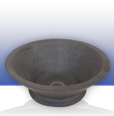 vasque basalt conique avec pied. Black Bedroom Furniture Sets. Home Design Ideas