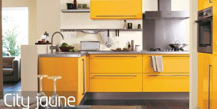 Cuisine nouvelle tendance city jaune for Cuisine peinte en jaune