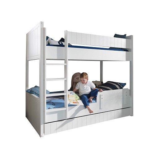 lit superpos gigogne robin design blanc comparer les prix. Black Bedroom Furniture Sets. Home Design Ideas