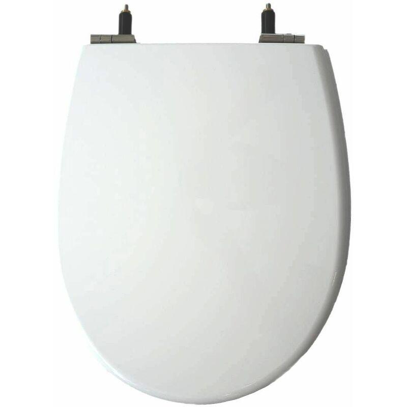 Abattant Vase Abattant WC en MDF Bois Blanc Abattant universel 435/x375/millim/ètres 1000061371