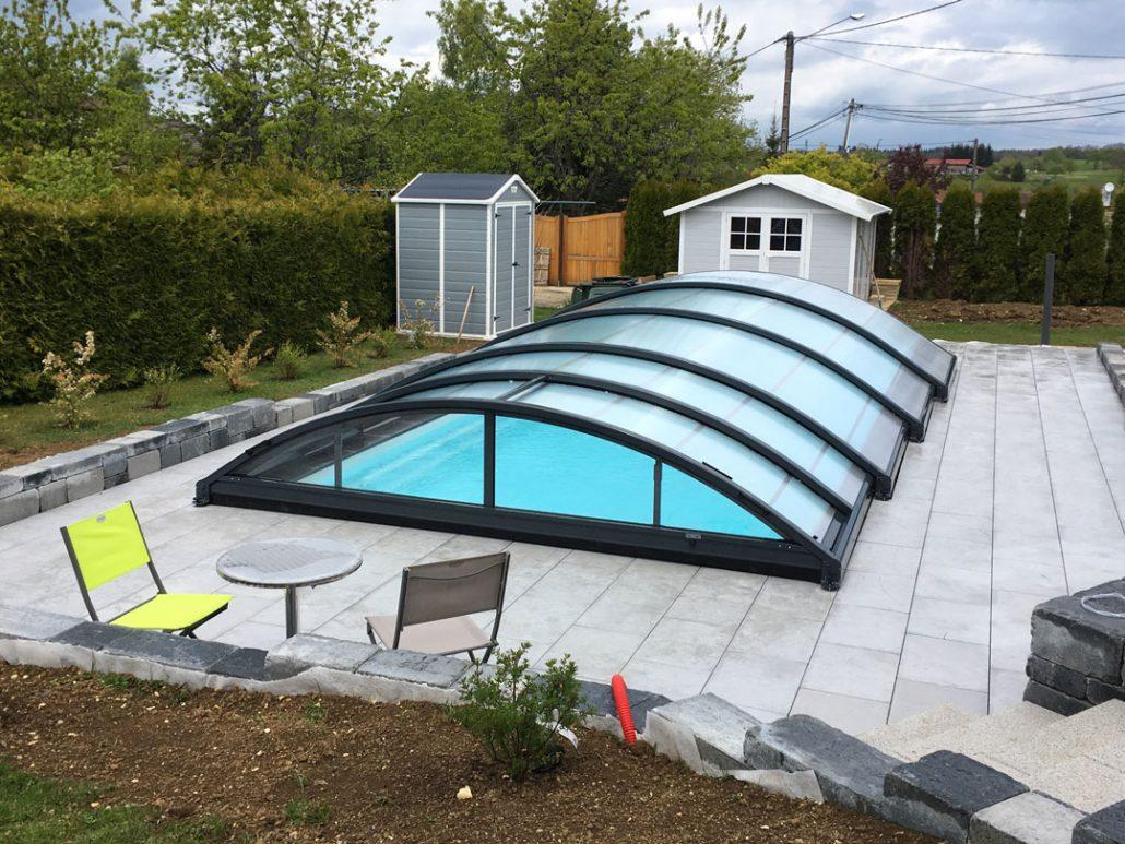 abri piscine bas basci t lescopique manuel en. Black Bedroom Furniture Sets. Home Design Ideas