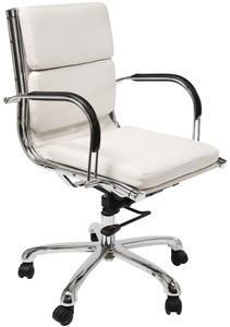 Chaise de bureau nappalon blanche for Chaise de bureau blanche
