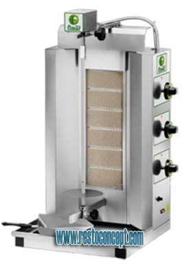 Machine a kebab electrique ou gaz machine a kebab gaz gyr60m for Cuisine gaz ou electrique