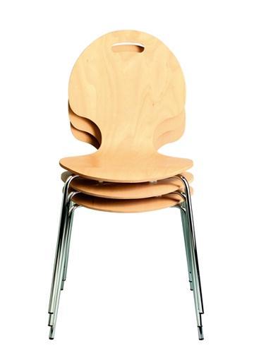 Chaise 4 pieds coque bois fimu - chaise d'entreprise