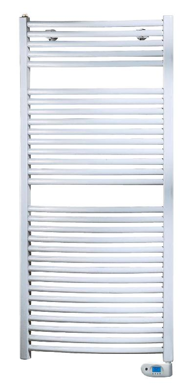 radiateur s che serviettes ola 2 lectrique puissance 500 w h 940 mm l 500 mm blanc. Black Bedroom Furniture Sets. Home Design Ideas