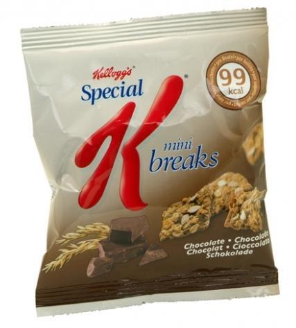 20 sachets mini breaks individuels spécial k au chocolat de 24g