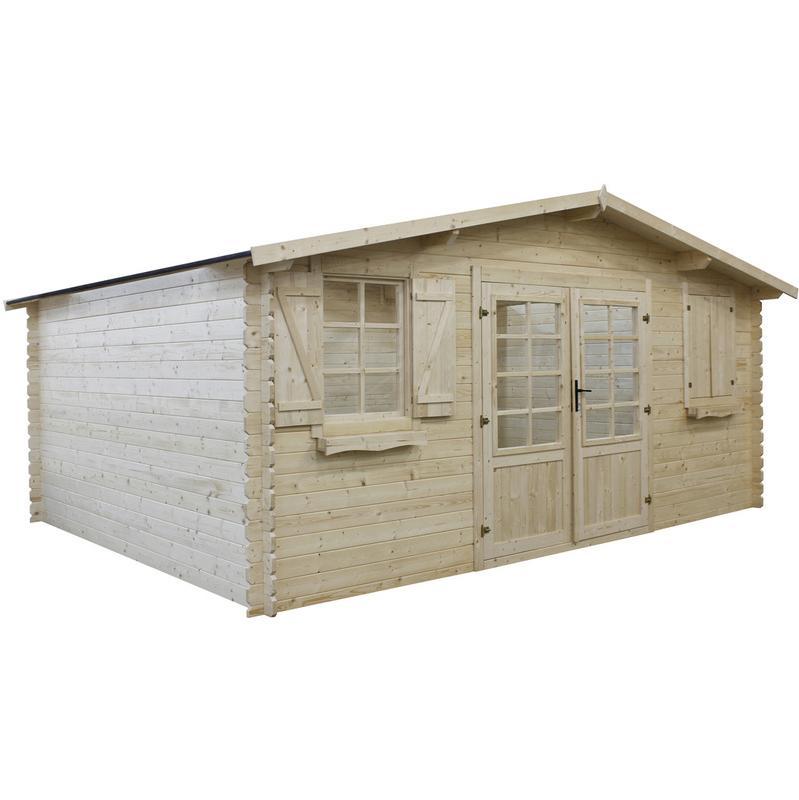 Abris de jardin habitat et jardin achat vente de abris for Abri de jardin bois autoclave classe 4