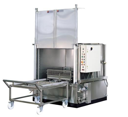 Machine cabine  inox à aspersion l212 e magido