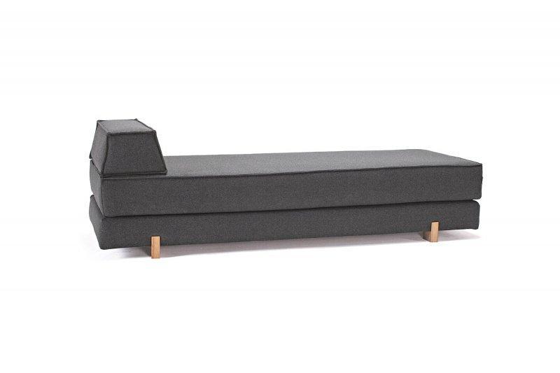 Canape design idouble gris alcantara ultra doux pieds for Canape lit alcantara