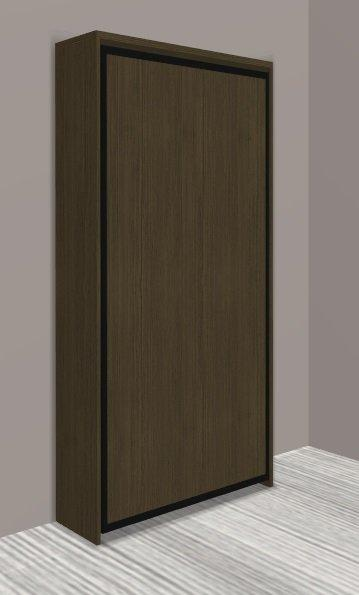 armoire lit escamotable cronos chene moka couchage 90 22 200 cm. Black Bedroom Furniture Sets. Home Design Ideas
