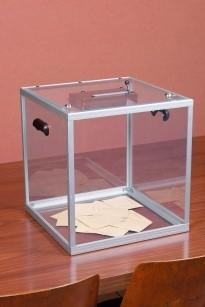 Urne électorale transparente