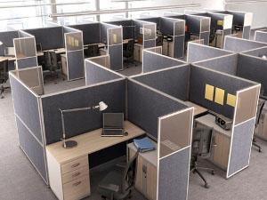 Cloisonnettes de bureau et openspace