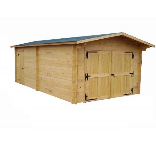 garage en bois 19 03 m2 vectura 3562 habrita comparer les prix de garage en bois 19 03 m2. Black Bedroom Furniture Sets. Home Design Ideas