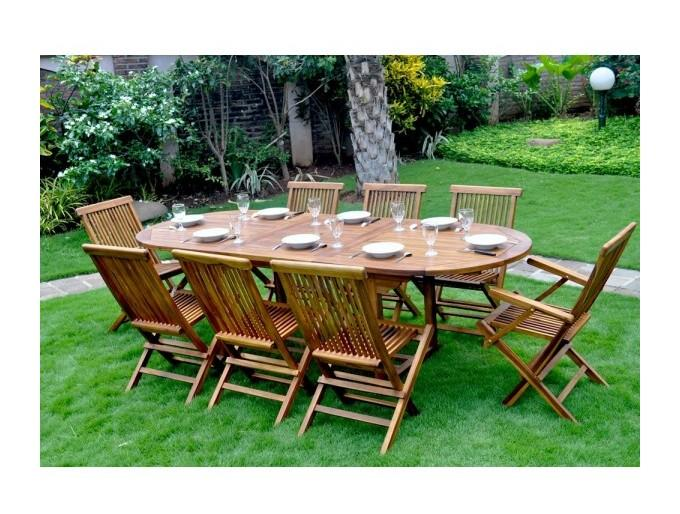 Salon de jardin wood en stock achat vente de salon de for Salon de jardin 10 personnes