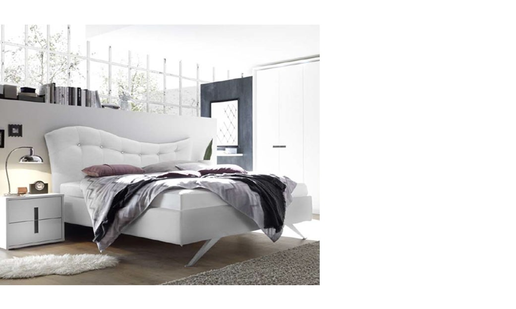 chambre adulte design laque blanc et anthracite aria. Black Bedroom Furniture Sets. Home Design Ideas