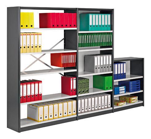 rayonnage de bureau polyvalent hauteur 200 cm comparer les prix de rayonnage de bureau. Black Bedroom Furniture Sets. Home Design Ideas