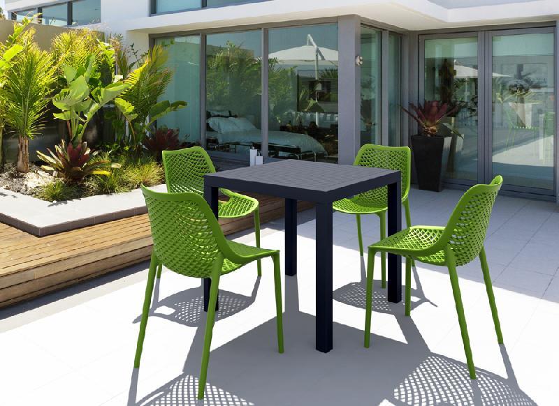 Ensemble de jardin ares vert - Table de jardin rouge ...