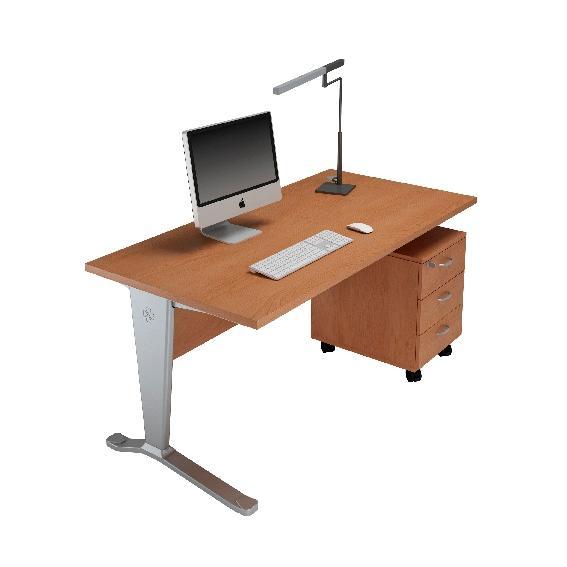 pack eco bureau droit 160x80 cm caisson roulettes comparer les prix de pack eco bureau droit. Black Bedroom Furniture Sets. Home Design Ideas