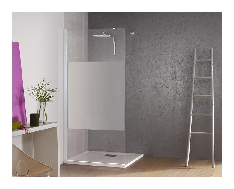 paroi de douche fixe kinespace solo avec bande centrale d polie 110cm kinedo comparer les prix. Black Bedroom Furniture Sets. Home Design Ideas