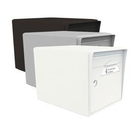 boite aux lettres en resine 1 porte blanc ivoire comparer les prix de boite aux lettres en. Black Bedroom Furniture Sets. Home Design Ideas