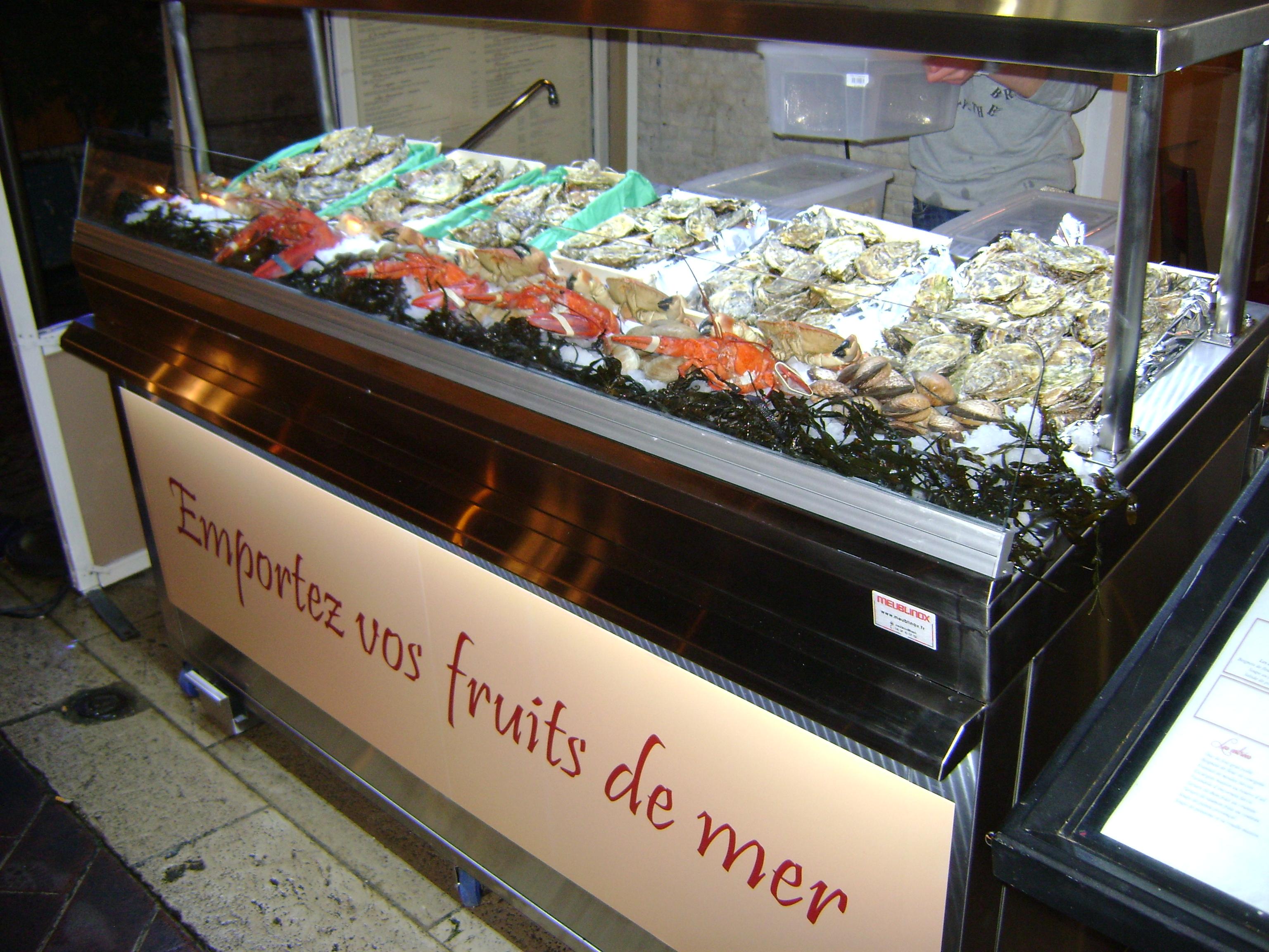 Meublinox produits rayonnages et presentoirs pour for Interieur huitre