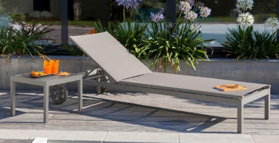 Chaise Longue De Jardin Bain Soleil Thema