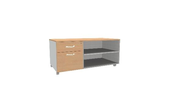console mobile mercure caisson 2 tiroirs prof 60 cm 1316 hetre alu. Black Bedroom Furniture Sets. Home Design Ideas
