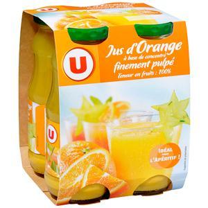 U jus à base de concentré d'orange bouteille verre 4 x 20 cl