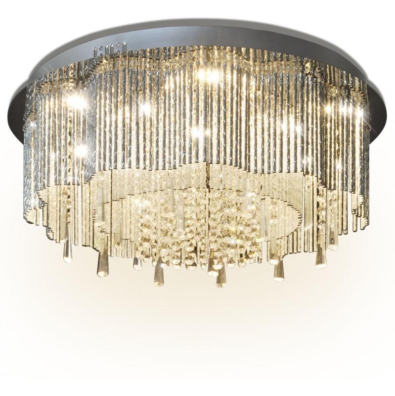 vidaxl lustre plafonnier led en cristal diam tre de 55 cm comparer les prix de vidaxl lustre. Black Bedroom Furniture Sets. Home Design Ideas