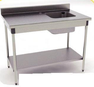 Table Inox Avec Cuve 1400mm