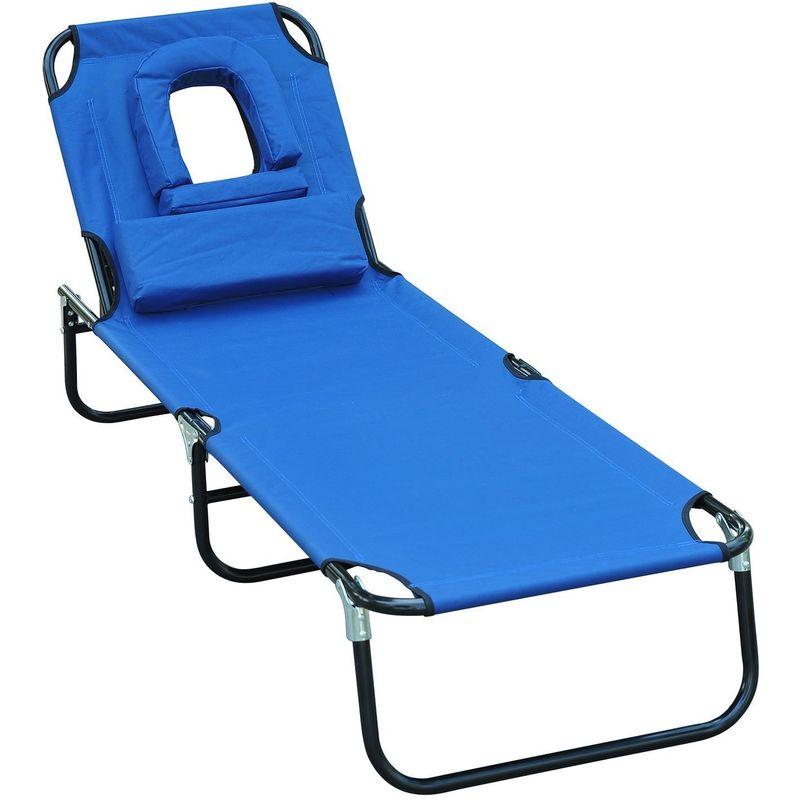 Homcom bain de soleil transat 28 images homcom chaise for Transat de plage pliant