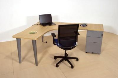 Bureau compact 90 sym trique evidence 160x60 avec for Bureau 160x60