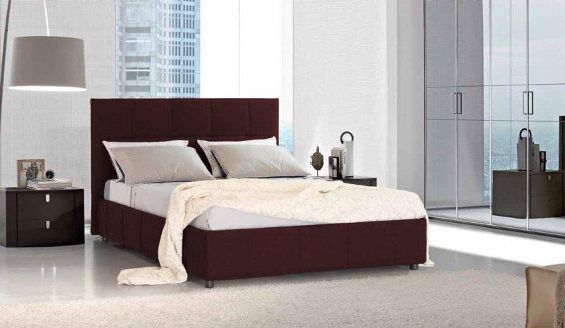 lit coffre design elisabetha bordeaux couchage 2 personnes 160 200cm. Black Bedroom Furniture Sets. Home Design Ideas