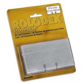 ROLODEX LOT DE 100 FICHES BLANCHES - DIM. : 5,7 X 10,2 CM