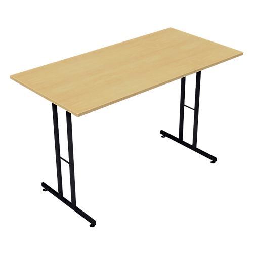 TABLE PLIANTE RECTANGULAIRE 1200 X 600 X 740 MM IMITATION HÊTRE