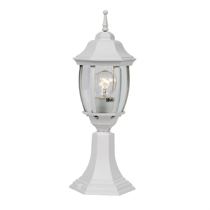 Tireno borne d 39 ext rieur blanc h42cm luminaire d for Borne luminaire exterieur