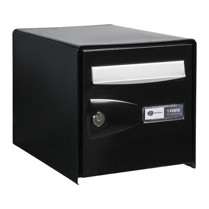bo te aux lettres noire simple face probox decayeux comparer les prix de bo te aux lettres. Black Bedroom Furniture Sets. Home Design Ideas