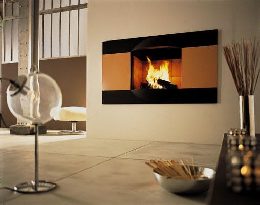 cheminee encastree infiniment metal hekla. Black Bedroom Furniture Sets. Home Design Ideas