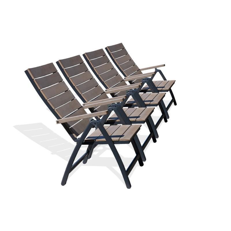 Chaise et fauteuil d 39 ext rieur comparez les prix pour for Fauteuil relax de jardin en bois