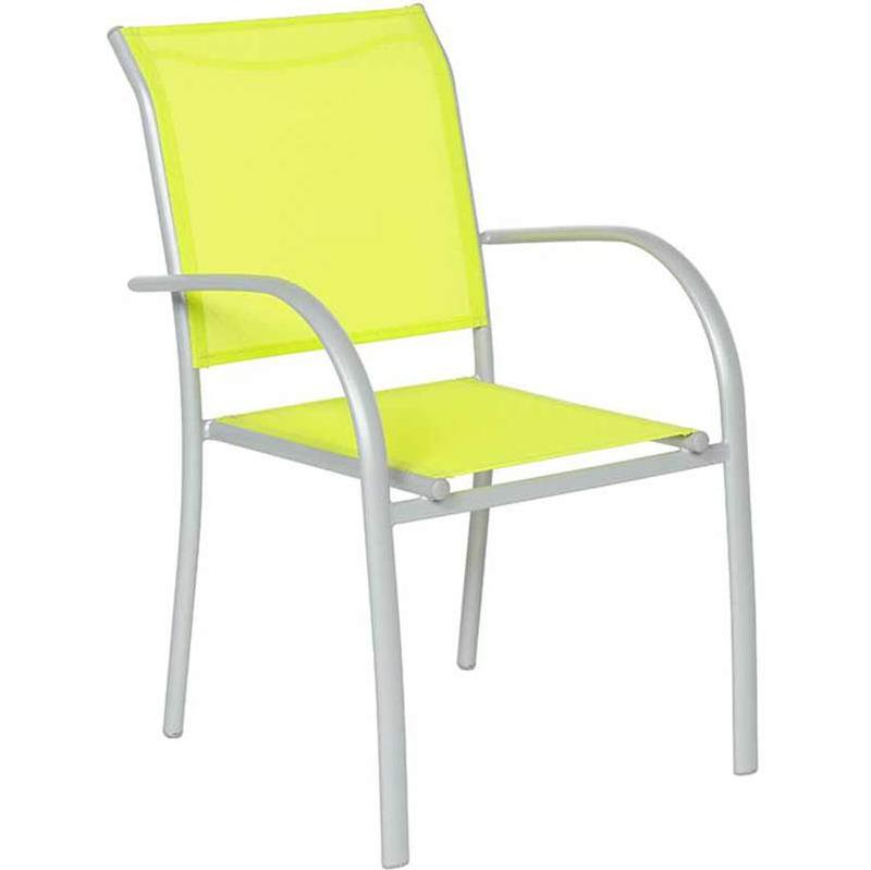 fauteuil de jardin en texaline piazza vert gris mat hesperide comparer les prix de fauteuil de. Black Bedroom Furniture Sets. Home Design Ideas