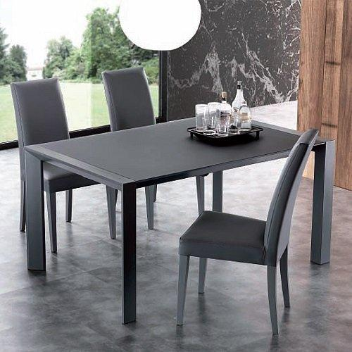 table repas extensible london beat en verre titane comparer les prix de table repas extensible. Black Bedroom Furniture Sets. Home Design Ideas