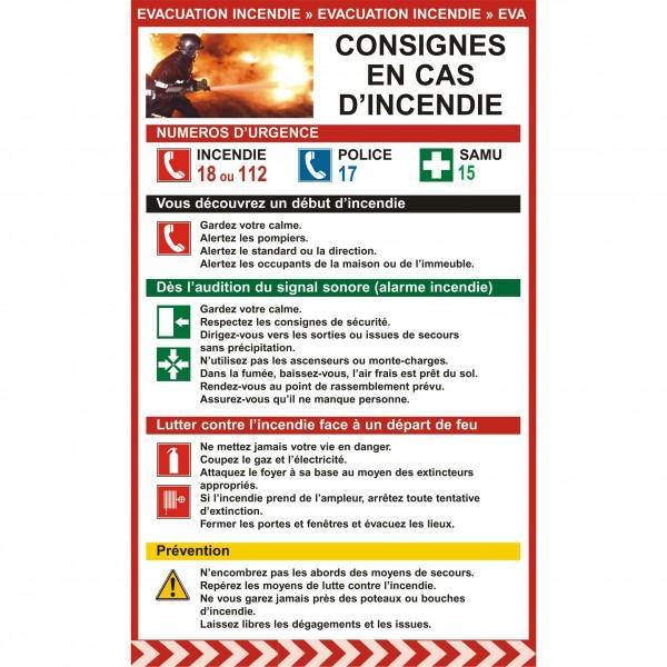 Affichage obligatoire consignes en cas d 39 incendie - Que faire en cas de panne d electricite ...