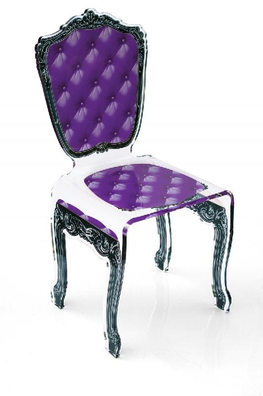 capiton chaise en plexi mauve par acrila. Black Bedroom Furniture Sets. Home Design Ideas