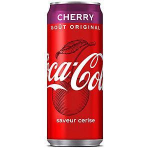 COCA-COLA CHERRY, SAVEUR CERISE, CANETTE DE 33 CL