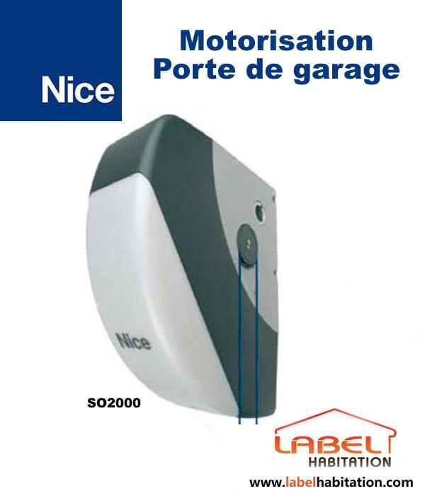 Motorisation porte de garage nice soon so2000 comparer for Porte de garage nice